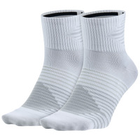 Nike Dri-FIT Lightweight Quarter 2 Pack - White / Grey