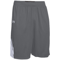 Under Armour Team Crunch Time Shorts - Men's - Grey / White
