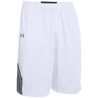 Under Armour Team Crunch Time Shorts - Men's - White / Grey