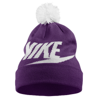 Nike Futura Logo Beanie - Women's - Purple / White