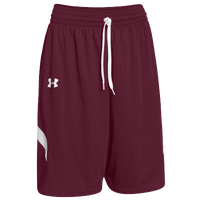 Under Armour Team Clutch Reversible Shorts - Men's - Maroon / White