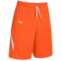Under Armour Team Clutch Reversible Shorts - Men's - Orange / White