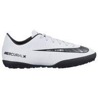 Nike Mercurial Vapor XI TF - Boys' Grade School - White / Black