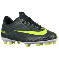 Nike Mercurial Victory XI FG - Boys' Grade School -  Cristiano Ronaldo - Dark Green / Light Green