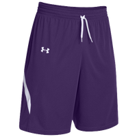 Under Armour Team Clutch Reversible Shorts - Women's - Purple / White