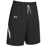 Under Armour Youth Team Clutch Reversible Short - Boys' Grade School - Black / White
