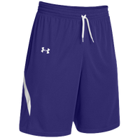 Under Armour Youth Team Clutch Reversible Shorts - Boys' Grade School - Purple / White