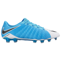 Nike Hypervenom Phantom III FG - Men's - White / Light Blue