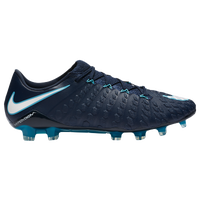Nike Hypervenom Phantom III FG - Men's - Navy / Light Blue