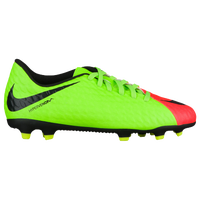 Nike Hypervenom Phade III FG - Boys' Grade School - Light Green / Black