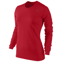 Nike Legend Dri-FIT L/S T-Shirt - Women's - Gold / Grey
