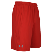Under Armour Team Pocketed Raid Shorts - Men's - Red / Red