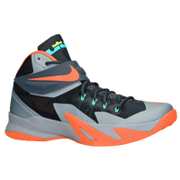 Nike Zoom Soldier VIII - Men's - LeBron James - Grey / Orange