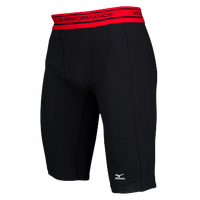 Mizuno Compression Shorts - Men's - Black / Red