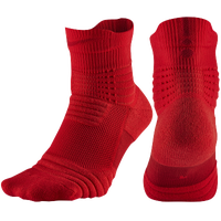 Nike Elite Versatility Quarter Socks - Red / Red