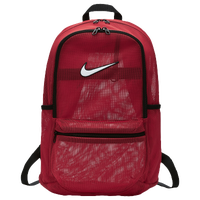 Nike Brazilia Mesh Backpack - Red / Black