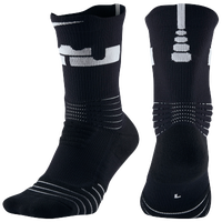 Nike LeBron Elite Versatility Crew Socks -  Lebron James - Black / White
