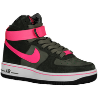 Nike Air Force 1 High - Boys' Grade School - Dark Green / Pink