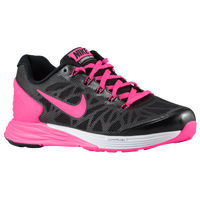 Nike Lunar Glide 6 - Girls' Grade School - Black / White