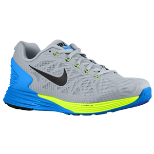 Nike Lunarglide 6 - Men's - Light Magnet Grey/Photo Blue/Volt/Black