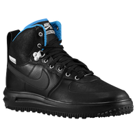 Nike Lunar Force 1 Hi Sneakerboot - Men's - Black / Light Blue