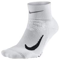 Nike Dri-FIT Elite Running Cushion Quarter - White / Black