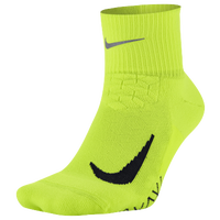 Nike Dri-FIT Elite Running Cushion Quarter - Light Green / Black