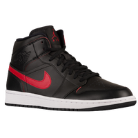 Jordan AJ1 Mid - Men's - Black / Red