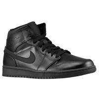 Jordan AJ1 Mid - Men's - All Black / Black