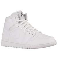 Jordan AJ1 Mid - Men's - All White / White