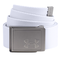 Under Armour Webbing 2.0 Golf Belt - Men's - White / Silver
