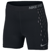 "Nike Pro Cool 3"" Compression Shorts - Women's - Black / Grey"