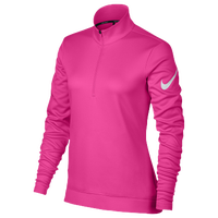 Nike Golf Thermal 1/2 Zip Cover Up - Women's - Pink / White