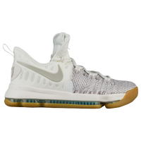 Nike KD 9 - Boys' Grade School -  Kevin Durant - Off-White / Grey