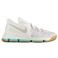 Nike KD 9 - Boys' Preschool -  Kevin Durant - Off-White / Grey