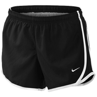 Nike Tempo Shorts - Girls' Grade School - Black / White