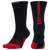Nike Elite 1.5 Basketball Crew - Black / Red