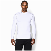 Under Armour ColdGear Armour Compression Mock - Men's - White / Grey