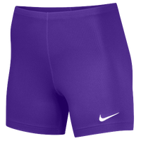 "Nike Team Ace 5"" Shorts - Women's - Purple / Purple"