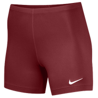 "Nike Team Ace 5"" Shorts - Women's - Maroon / Maroon"