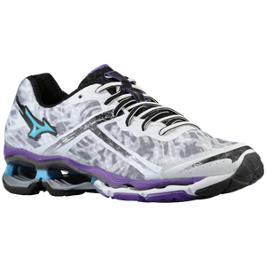 Mizuno Wave Creation 15 - Women's - White/Aquarius/Pansy