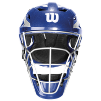 Wilson Pro Stock Catcher's Helmet - Adult - Blue / Silver