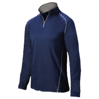 Mizuno Compression 1/4 Zip L/S Batting Jacket - Men's - Navy / Navy