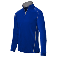 Mizuno Compression 1/4 Zip L/S Batting Jacket - Men's - Blue / Blue
