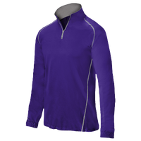 Mizuno Compression 1/4 Zip L/S Batting Jacket - Men's - Purple / Purple