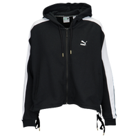 PUMA Heart Lace Up T7 Track Jacket - Women's - Black / White