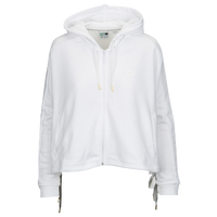 PUMA Heart Lace Up T7 Track Jacket - Women's - All White / White
