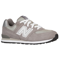 New Balance 574 - Boys' Grade School - Grey / Grey