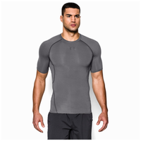 Under Armour HeatGear Armour Compression S/S Shirt - Men's - Grey / Grey