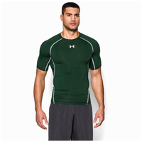 Under Armour HeatGear Armour Compression S/S Shirt - Men's - Green / White